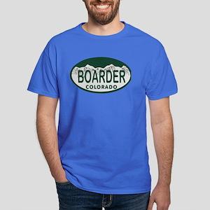 Boarder Colo License Plate Dark T-Shirt