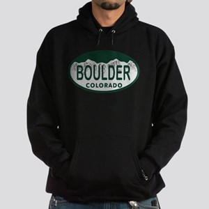 Boulder Colo License Plate Hoodie (dark)
