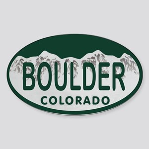Boulder Colo License Plate Sticker (Oval)