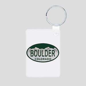 Boulder Colo License Plate Aluminum Photo Keychain
