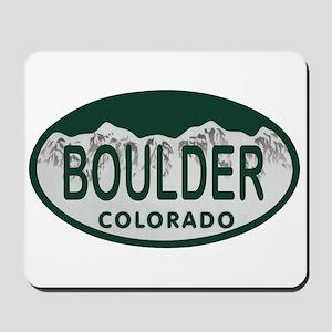 Boulder Colo License Plate Mousepad