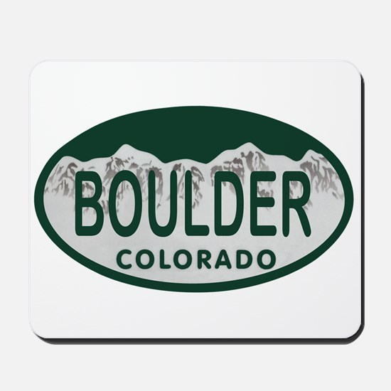 Boulder Colo License Plate Mousepad