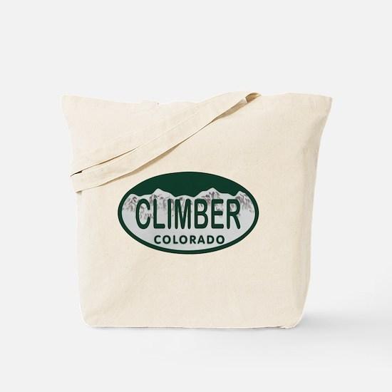 Climber Colo License Plate Tote Bag