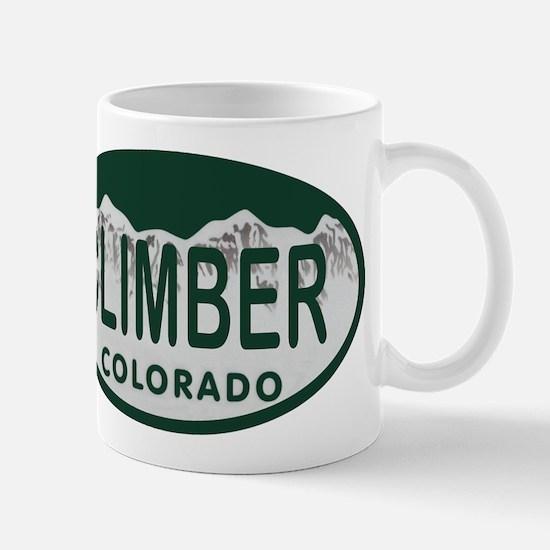 Climber Colo License Plate Mug