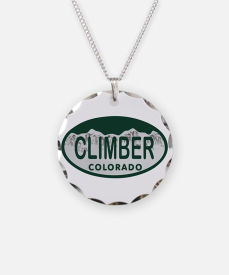 Climber Colo License Plate Necklace