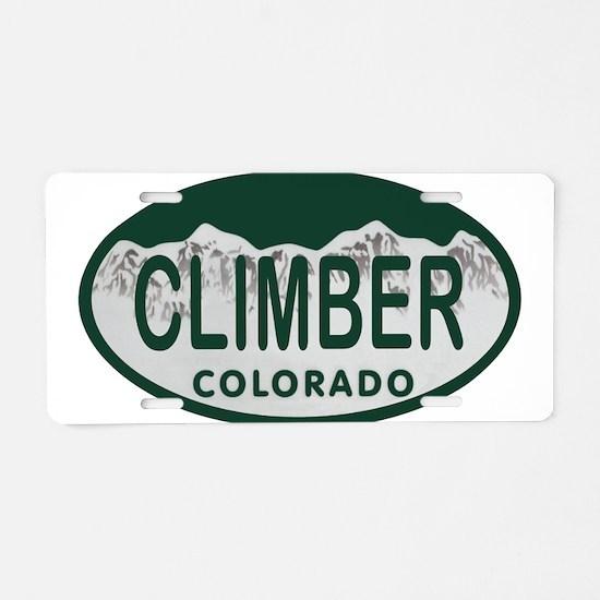 Climber Colo License Plate Aluminum License Plate