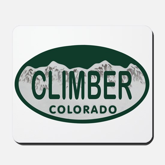 Climber Colo License Plate Mousepad