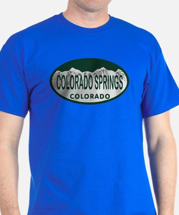 Colorado Springs Colo License Plate T-Shirt