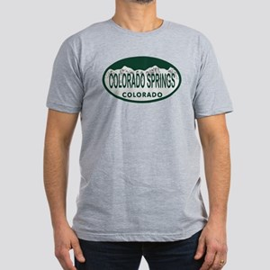 Colorado Springs Colo License Plate Men's Fitted T