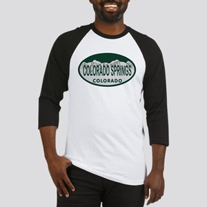 Colorado Springs Colo License Plate Baseball Jerse