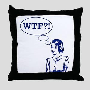 WTF Vintage Throw Pillow
