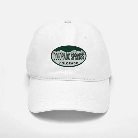 Colorado Springs Colo License Plate Baseball Baseball Cap