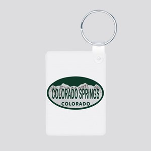 Colorado Springs Colo License Plate Aluminum Photo