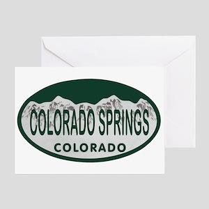 Colorado Springs Colo License Plate Greeting Card
