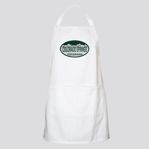Colorado Springs Colo License Plate Apron