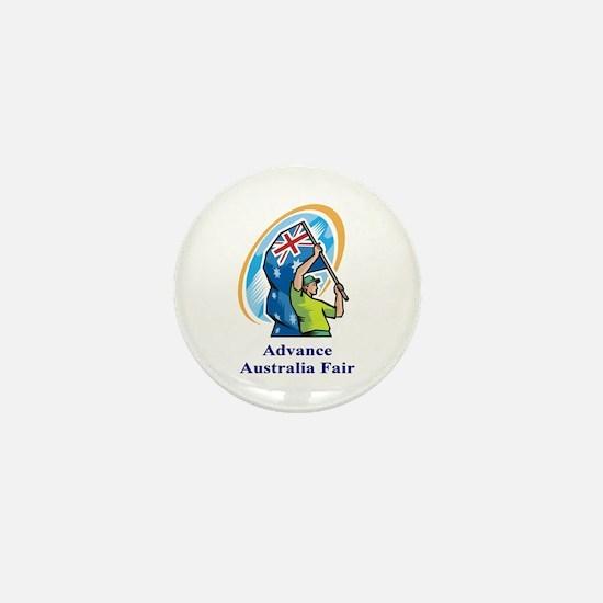 Advance Australia Fair Mini Button