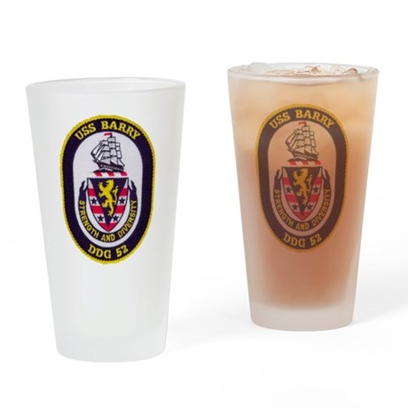 USS BARRY Drinking Glass