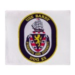 USS BARRY Throw Blanket