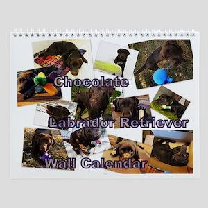 Chocolate Labrador Retriever Wall Calendar