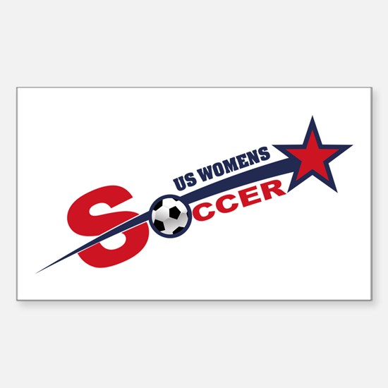 US Women's Soccer Sticker (Rectangle)