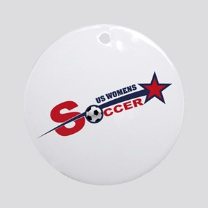 US Women's Soccer Ornament (Round)