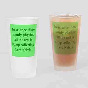 Lord Kelvin quotes Drinking Glass