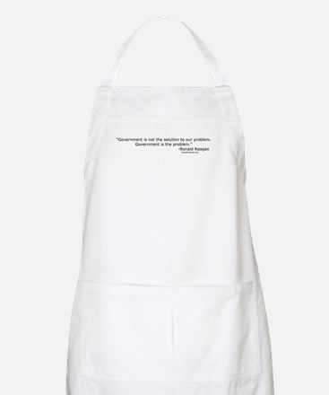 Reagan: Government is not the solution BBQ Apron