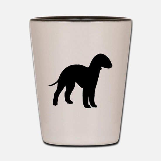 Cute Bedlington terrier Shot Glass