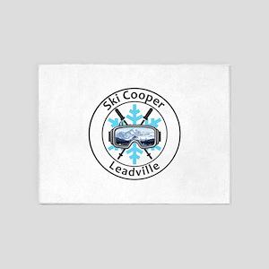 Ski Cooper - Leadville - Colorado 5'x7'Area Rug
