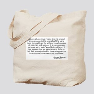 Moral courage of free men and women Tote Bag