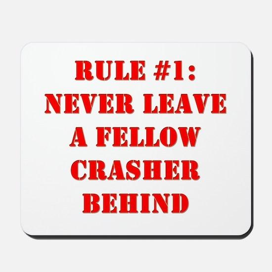 Crashing Rule #1 Mousepad