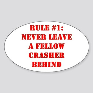 Crashing Rule #1 Oval Sticker