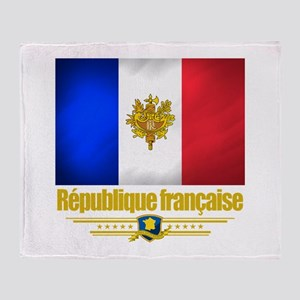 French Flag/Emblem Throw Blanket
