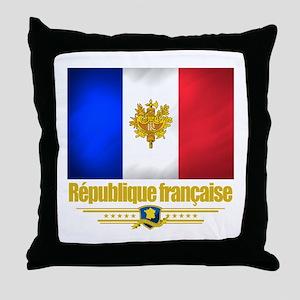 French Flag/Emblem Throw Pillow