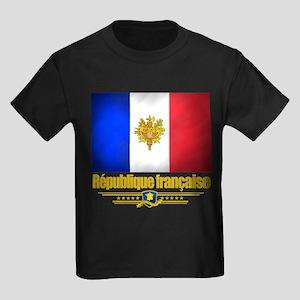 French Flag/Emblem Kids Dark T-Shirt