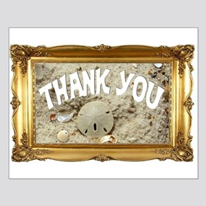 Beachy Thank You Small Poster