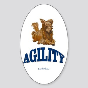 Agility Dog Oval Sticker