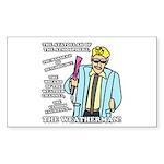 The Weatherman Sticker (Rectangle 50 pk)