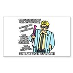 The Weatherman Sticker (Rectangle 10 pk)