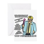 The Weatherman Greeting Card