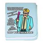 The Weatherman baby blanket