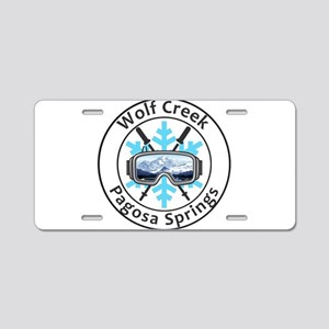 Wolf Creek Ski Area - Pag Aluminum License Plate