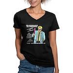 The Weatherman Women's V-Neck Dark T-Shirt