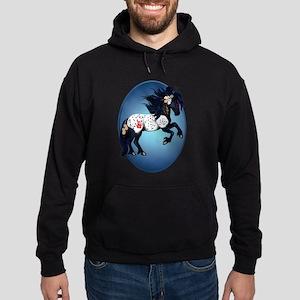 Appaloosa War Pony Oval Hoodie (dark)
