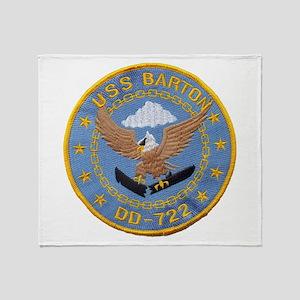 USS BARTON Throw Blanket