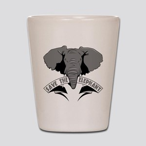 Save The Elephant Shot Glass