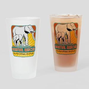 Animal Rescue Elephants Drinking Glass