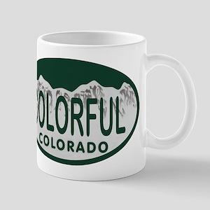 Colorful Colo License Plate Mug