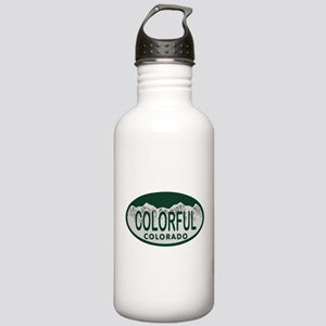 Colorful Colo License Plate Stainless Water Bottle