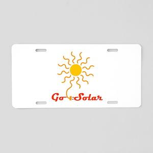 Go Solar Aluminum License Plate